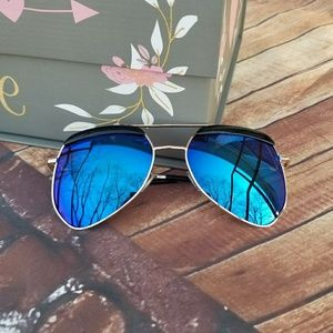 cb0fb25773494 Lana Bean Jewels. Blue mirror aviator sunglasses